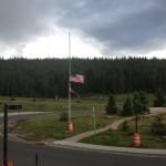 Mission Trip, Flags at Half Mast in Colorado