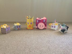this set of farmyard baskets was made by one of our talented 6th graders