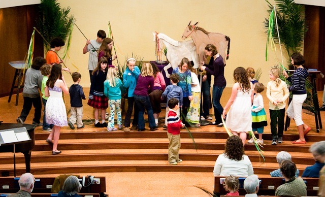 Palm Sunday Celebration inside